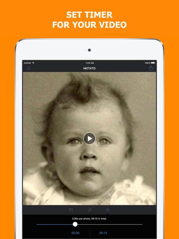 Motato: Morph Face Pictures for Slideshow Maker Screenshots