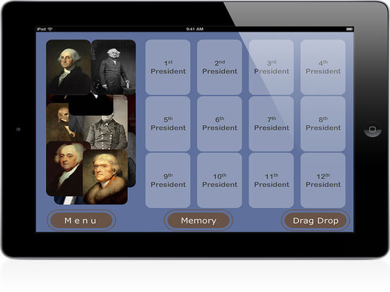 PairPlay USA Presidents iPad Screenshot 1