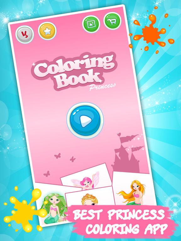 Принцесса раскраски для детей - краска и рисовать