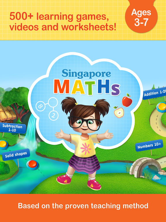 #1 Math Games App for Kids in Preschool & Kindergarten - Singapore maths learning method: fun games, interactive worksheets and activities free by Kids Academy screenshot