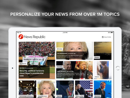News Republic: Breaking National & World News screenshot
