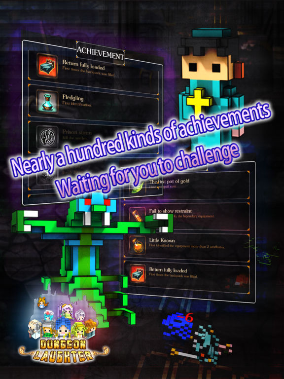Dungeon Laughter: 3D voxel Roguelike game (no in-app purchase) Screenshots