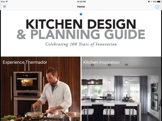 Thermador kitchen design planning guide on the app store for Kitchen design guide
