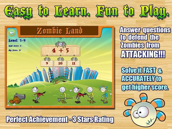 Aaah! Math Zombies HD iPad Screenshot 2