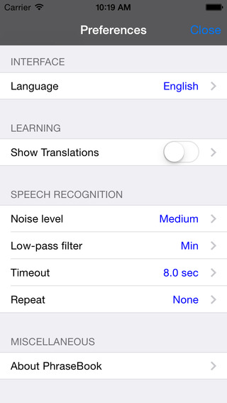 English-Chinese Mandarin Simplified-Japanese Kana-Arabic-Korean Talking Travel Phrasebook iPhone Screenshot 4