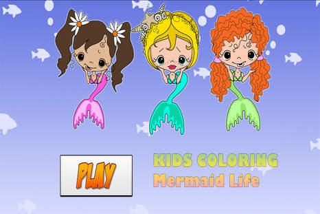 这是什么图画书游戏对孩子们:  - 图画书包含卡通美人鱼(人鱼公主和