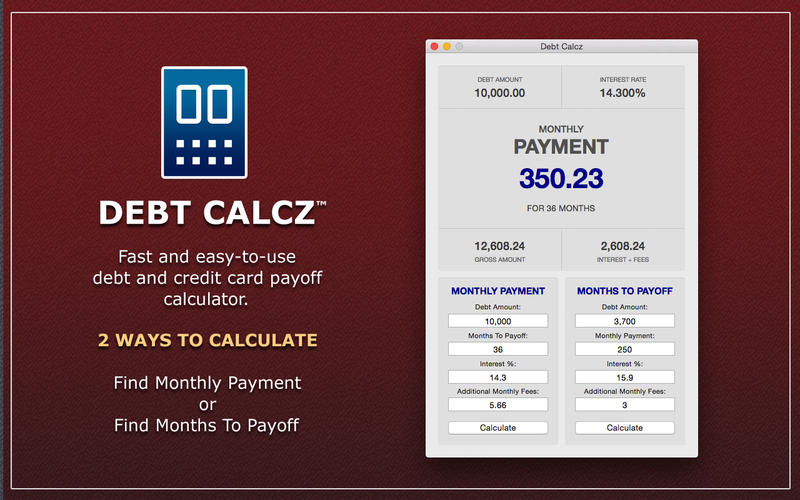 Debt Calcz Screenshot - 1