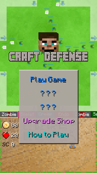 Block Defense - build to survive the zombies and mobs