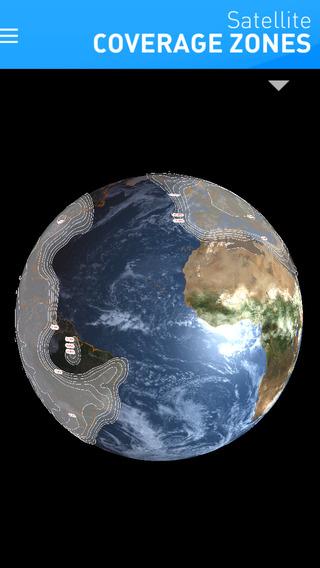 Eutelsat Satellite Coverage Zones Lite