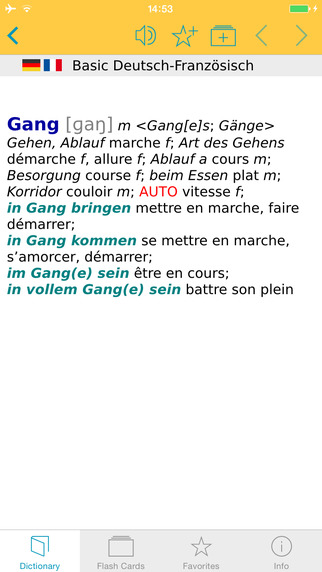 French German Talking Dictionary Basic