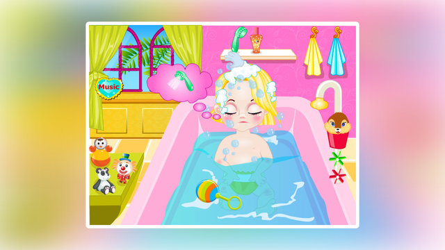 Baby Rapunzel Haircucut And Bathing