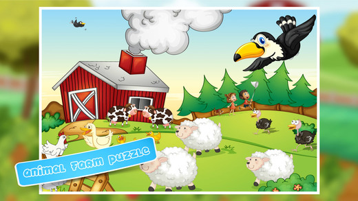 Farm Animal Jigsaw Puzzle for Kids boys girls and preschool toddlers - Fun Childrens Game with Cows
