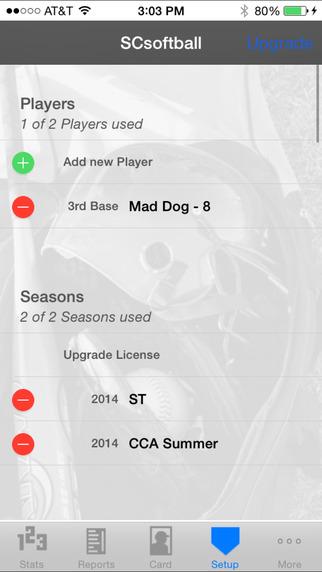 StatCatcher™ Softball (Player Edition) iPhone Screenshot 5
