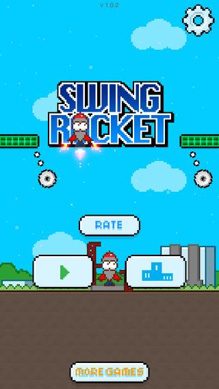 Swing Rocket on space