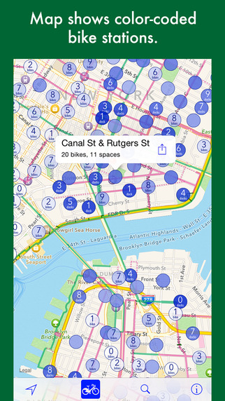 CityVelo - bike share maps for 11 US cities + London Montreal Toronto