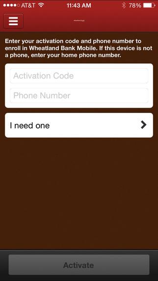 Wheatland Bank iPhone Screenshot 1