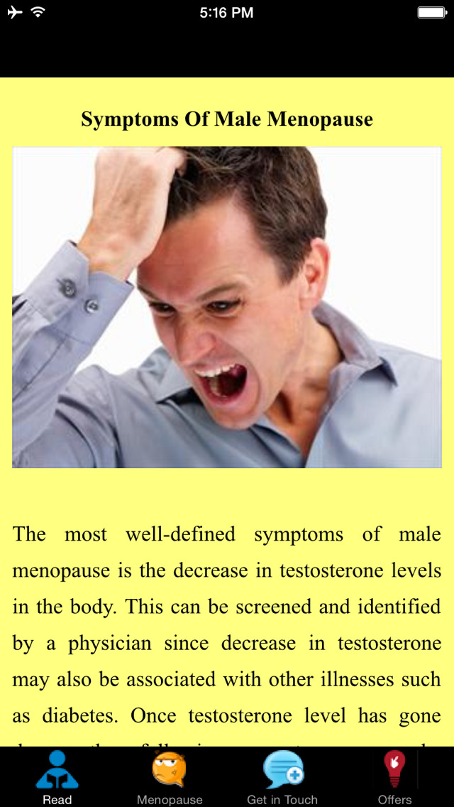 Symptoms Of Male Menopause - Quick Guide
