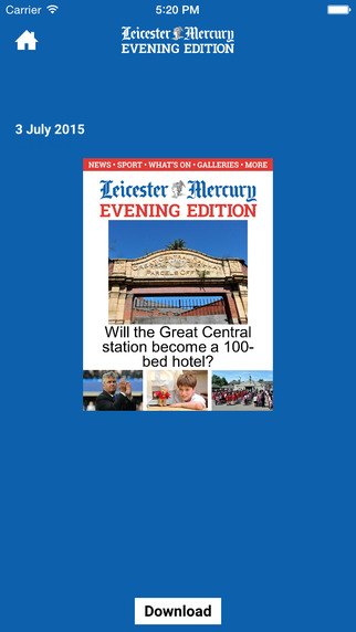 Leicester Mercury Evening Edition