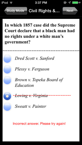 CLEP: American Government Exam Prep iPhone Screenshot 3
