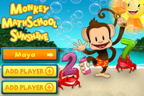 Screenshot 1 Monkey Math School Sunshine