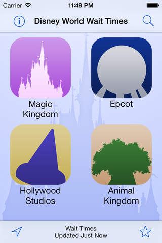 Disney World Wait Times Free app screenshot