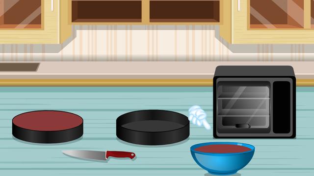 Cooking Game Black Cat Cake
