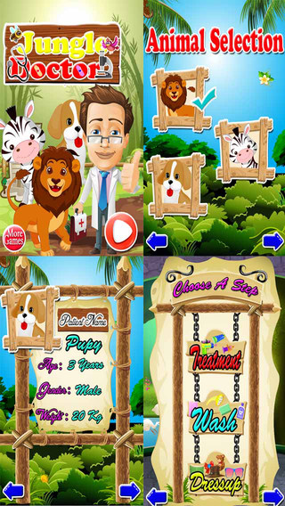 Jungle Doctor Adventure - Wild Animals Treatment Game