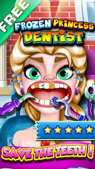 Frozen Princess Dentist Office - crazy baby doctor in little kids teeth mania
