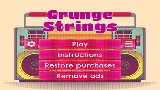 Grunge Strings - FREE - Slide Rows And Match Vintage 90's Items Super Puzzle Game