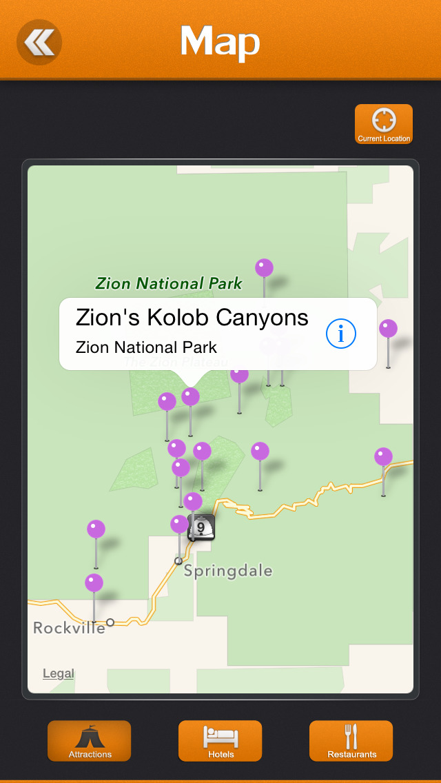 Zion National Park for iPhone & iPad - App marketing report ...