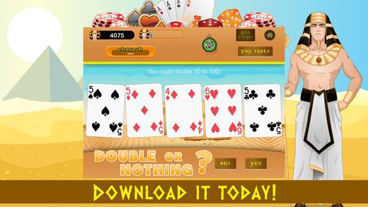 Video Poker FREE - Pharaohs Gold