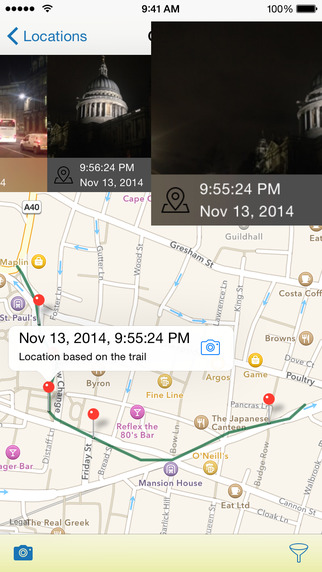 CameraGPS - Easy GPS logging geotagging and export
