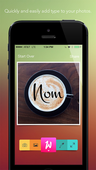 Werds - Quickly add text to pictures Screenshot
