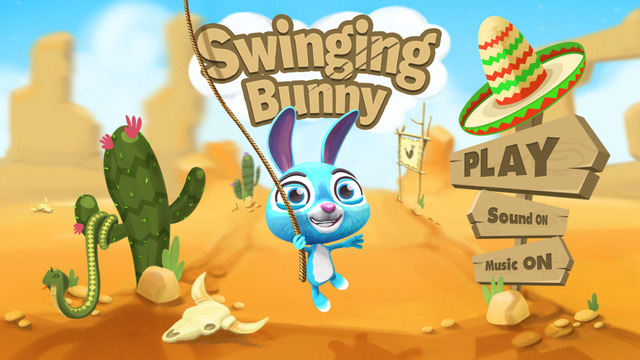 Swinging Bunny: Fly With Rope And Help The Rabbit Hopper Cross The Desert
