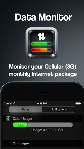 Data Monitor - Widget for 3G Internet Tracking Cellular Usage Monitor Extension for 3G LTE