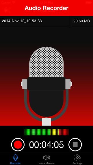 Voice Recorder : Audio Recording Playback Trimming and Cloud Sharing