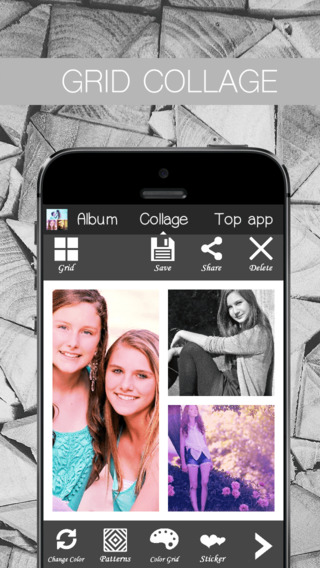 Grid Collage - Photo color effect with grid for Instagram