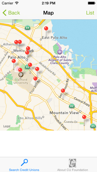 Credit Union Finder iPhone Screenshot 1