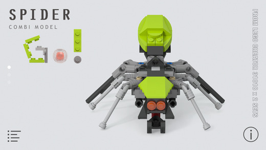 Spider for LEGO Creator 31018 x 2 Sets - instructions to build the new model with your old LEGO bric