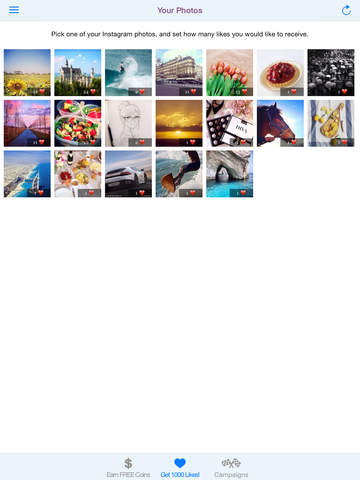 Screenshots of Like Boost - Get more Instagram likes & followers for iPad