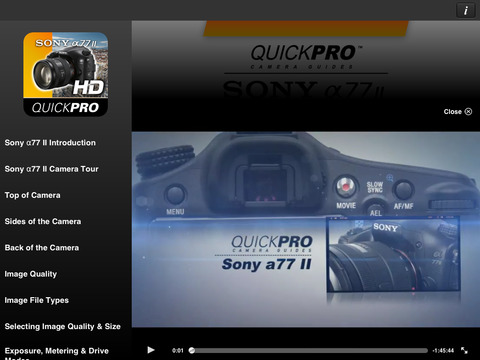 SONY XDCam EX Training iPad Screenshot 2