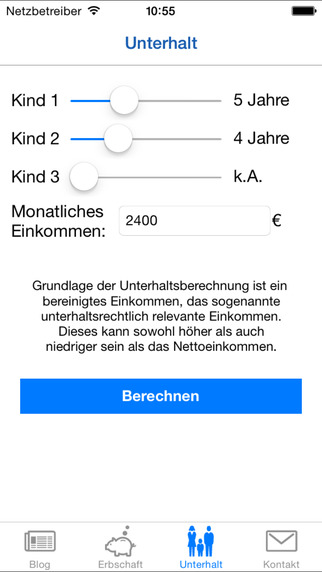 Erbrecht Saar iPhone Screenshot 3