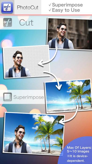 PhotoCut-Наложение фотографий, текстов, коллажей, композитный Screenshot