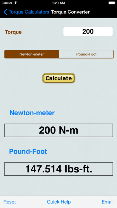 Wheel And Tire Motion Calculator iPhone Screenshot 2