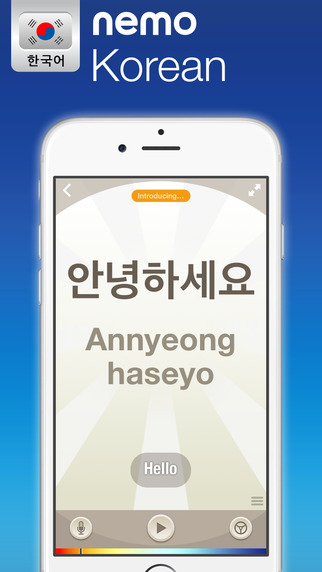 Korean by Nemo – Free Language Learning App for iPhone and iPad