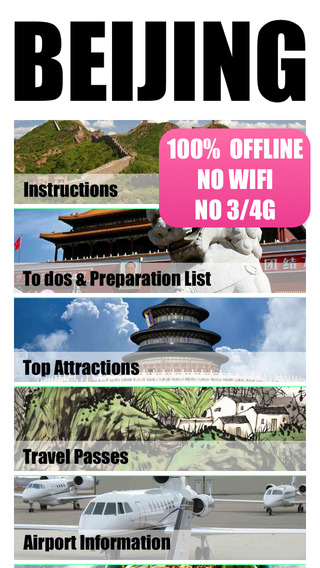 Beijing travel guide and offline map city tour metro underground tube lonely travel maps planet sigh