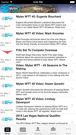 Mylan World Team Tennis