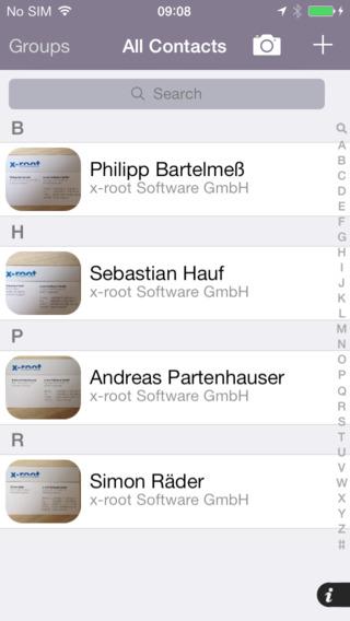 Cardreader - mobile OCR Business Card Reader Scanner