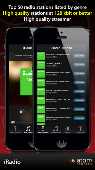 iRadio: Techno iPhone Screenshot 1