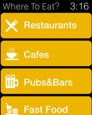 Where To Eat? - Find restaurants using GPS. Screenshots